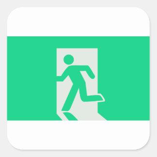Exit Sign Square Sticker