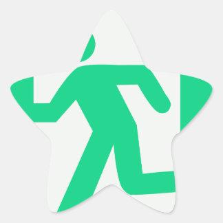 Exit Sign Star Sticker