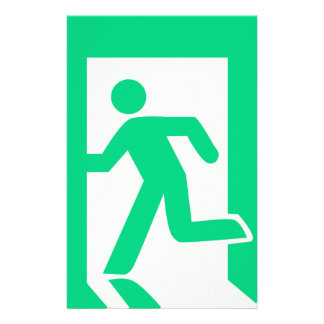 Exit Sign Stationery