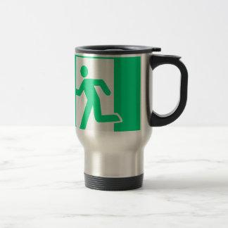 Exit Sign Travel Mug