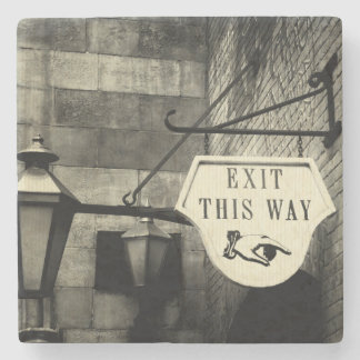 Exit This Way Stone Coaster