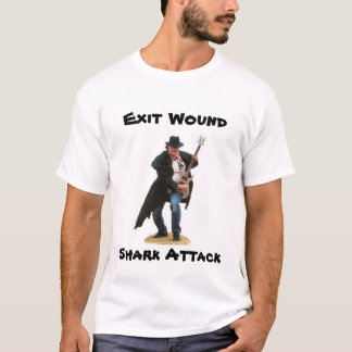 Exit Wound Shark Attack Cover Art T-Shirt