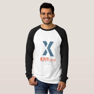 EXITrump Mens Raglan Long Sleeve Tee
