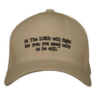 Exodus 14:14 embroidered hat