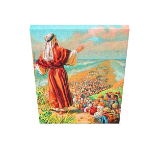 Exodus 14 Crossing the Sea on Dry Ground Canvas Stretched Canvas Print