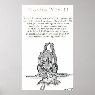 Exodus 20: 8-11 poster