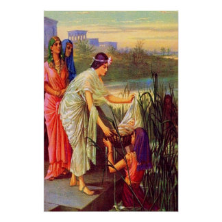 Exodus 2 Baby Moses Drawn from the Nile Poster