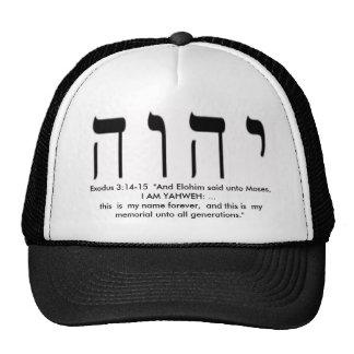 Exodus 3:14-15 Yah's Name Hat