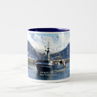 Exodus Explorer, Fishing Trawler in Dutch Harbor Two-Tone Coffee Mug