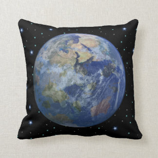 Exoplanet Trappist-1 E Throw Pillow