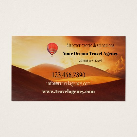 Exotic Adventure Travel Agency Business Card