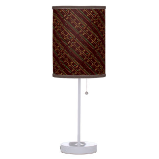 Exotic Africa Mudcloth Pattern Table Lamp