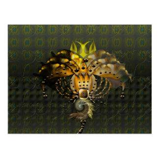 Exotic alien flower postcard