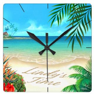 Exotic Beach ::CUSTOM for Lindy:: Wallclock