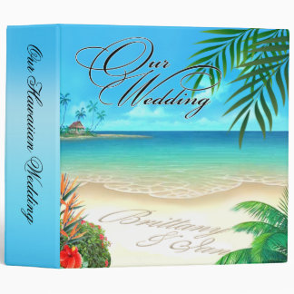 Exotic Beach Hawaiian Album ask for names in sand Binder
