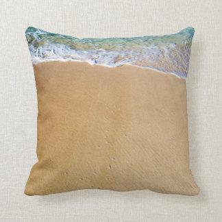 Exotic Beach Sand Throw Pillow