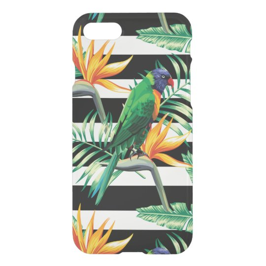 Exotic Bird And Palm Trees iPhone 7 Case