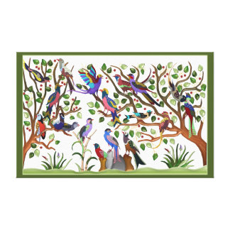 Exotic birds canvas print