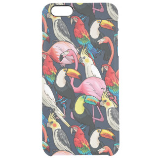 Exotic birds clear iPhone 6 plus case