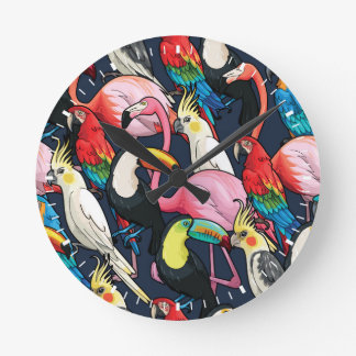 Exotic birds clocks