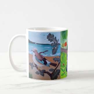 Exotic birds coffee mug
