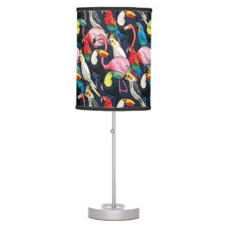 Exotic birds desk lamps