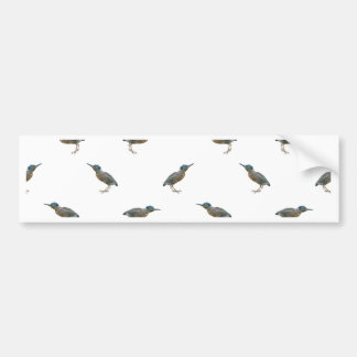 Exotic Birds Motif Pattern Bumper Sticker