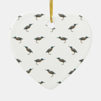 Exotic Birds Motif Pattern Ceramic Ornament