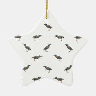 Exotic Birds Motif Pattern Ceramic Ornament