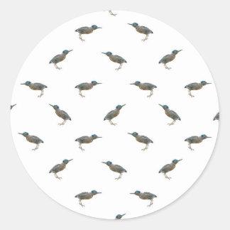 Exotic Birds Motif Pattern Classic Round Sticker