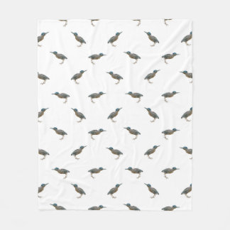 Exotic Birds Motif Pattern Fleece Blanket