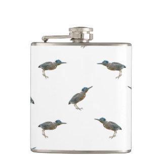 Exotic Birds Motif Pattern Hip Flask