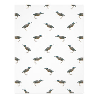 Exotic Birds Motif Pattern Letterhead
