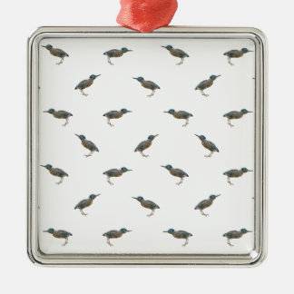 Exotic Birds Motif Pattern Metal Ornament