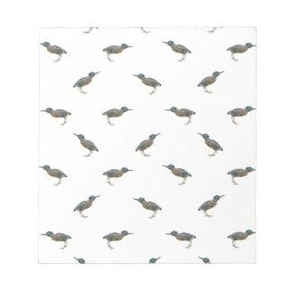 Exotic Birds Motif Pattern Notepad