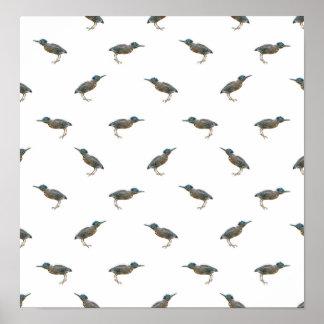 Exotic Birds Motif Pattern Poster