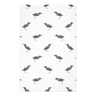 Exotic Birds Motif Pattern Stationery