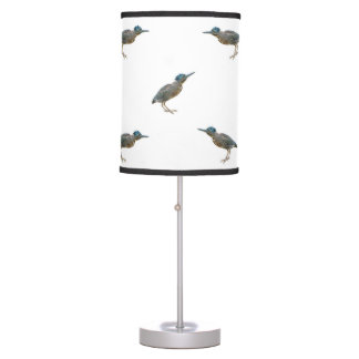 Exotic Birds Motif Pattern Table Lamp