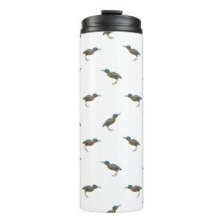 Exotic Birds Motif Pattern Thermal Tumbler