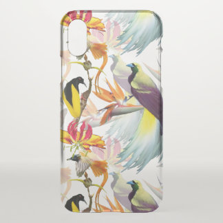 Exotic Birds of Paradise and Flowers Watercolor iPhone X Case