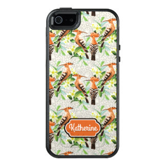 Exotic Birds On Lace | Add Your Name OtterBox iPhone 5/5s/SE Case