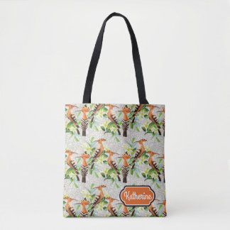 Exotic Birds On Lace | Add Your Name Tote Bag