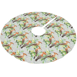 Exotic Birds On Lace Brushed Polyester Tree Skirt