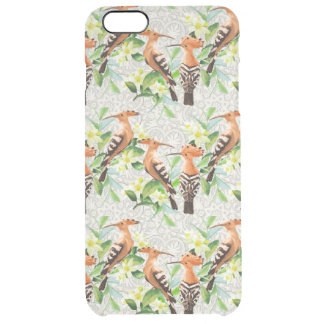 Exotic Birds On Lace Clear iPhone 6 Plus Case