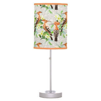 Exotic Birds On Lace Desk Lamps