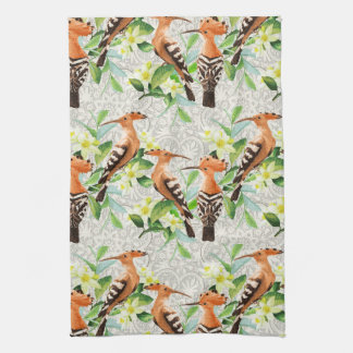 Exotic Birds On Lace Hand Towel