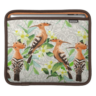 Exotic Birds On Lace iPad Sleeve