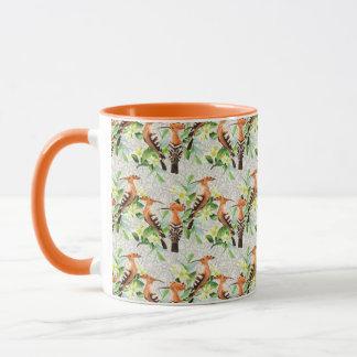 Exotic Birds On Lace Mug
