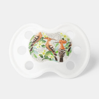 Exotic Birds On Lace Pacifiers