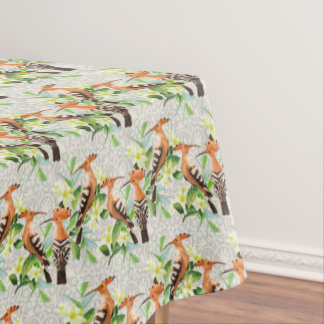 Exotic Birds On Lace Tablecloth